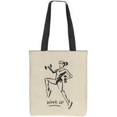 Work it - Liberty Cotton Canvas Tote Bag