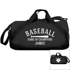 James, baseball bag