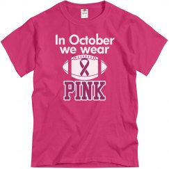 Breast Cancer Football - Pink