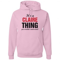 It's a Claire thing