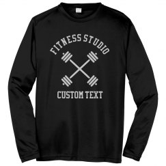 Custom Fitness Studio Long Sleeve Performance Shirts