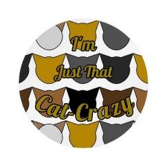 Cat Crazy Button