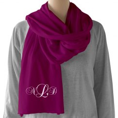 Personalized Monogram Scarf Gift