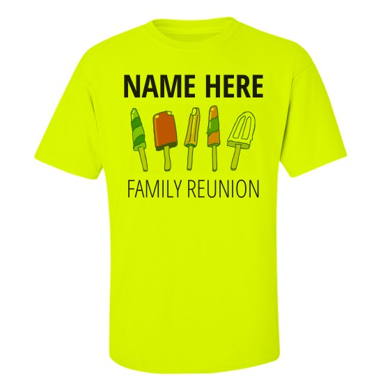 1cd2c35ea Summer Popsicle Family Reunion Unisex Ultra Cotton Safety Neon Crew Neck T- Shirt