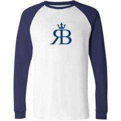 Long Sleeved Red Bottoms-Blue/blue logo