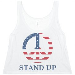 Stand Up Heart Flag