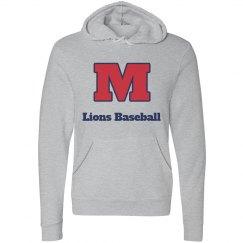 Lions Baseball Grey Hoodie Block M