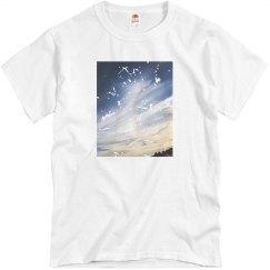 Unisex distressed sky tshirt