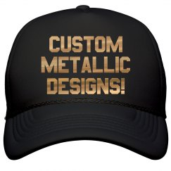 Custom Metallic Print Trucker Hats