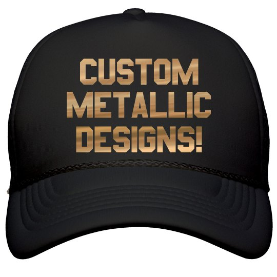7b67454de73f8 Custom Metallic Print Trucker Hats Film and Foil Solid Color Snapback Trucker  Hat