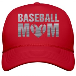 Silver Metallic Baseball Mom Bling