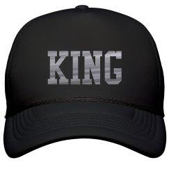 Matching King & Queen Metallic Text