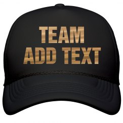 Custom Team Metallic Gold Text