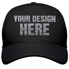 Custom Metallic Text Trucker Hats