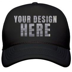 Custom Metallic Text Trucker Hats
