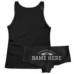 Ladies Tank Top & Underwear Sleepwear Set