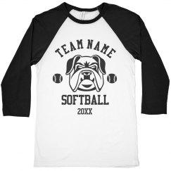 Custom Softball Team Changeable Art