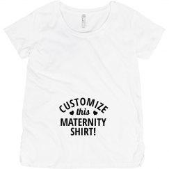 Customize A Maternity Shirt