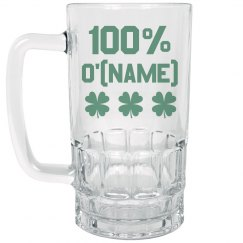100% Irish Name Beer Stein