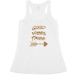 Good Vibes Tribe White w/ Arrow