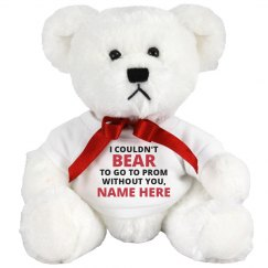 Punny Joke Custom Promposal Teddy Bear