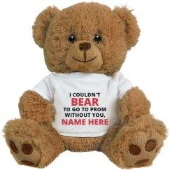 Punny Joke Custom Promposal Teddy Bear