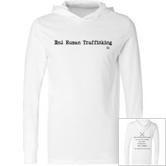 End Human Trafficking light weight pullover