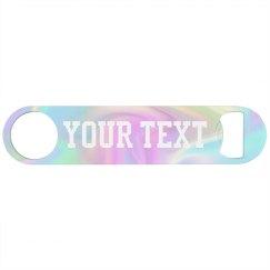 Custom Iridescent Pastel Rainbow