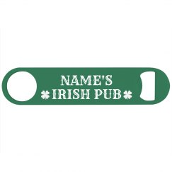 Green Custom Name Irish Pub