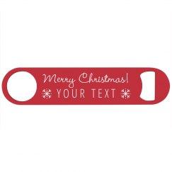Merry Christmas Gift Bottle Opener
