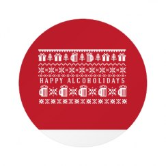 All Over Print Round Plastic Button with Pin