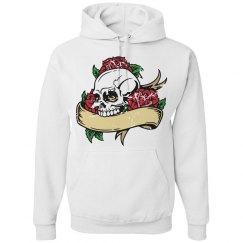 Distressed Skull Hoodie