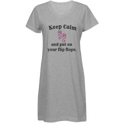 Keep Calm Cover Up - white