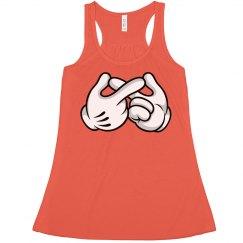 Orange Infinity Gloves