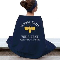 Custom Mascot School Sports Blanket