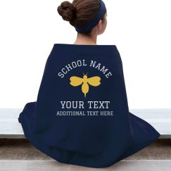 Custom Mascot School Sports Blanket