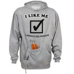 I Like Me - bottle holder hoodie