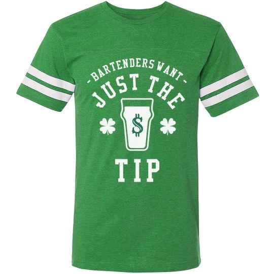 1f5b778b2 Funny Irish Just The Tip Unisex Vintage Sports T-Shirt