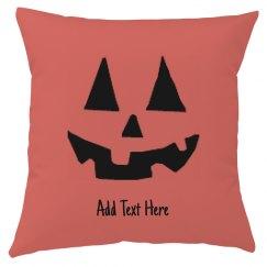 Custom Pumpkin Halloween Pillow