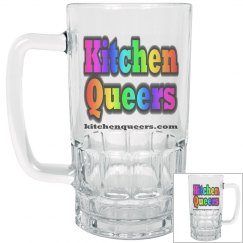 Kitchen Queers Rainbow Logo Glass Beer Mug