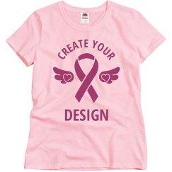 Custom Your Design Breast Cancer Awareness Tee