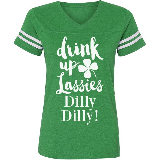 952a56b80cc21e Drink Up Dilly Dilly Ladies Relaxed Fit Vintage Sports T-Shirt