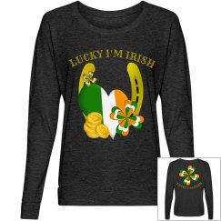 Lucky I'm Irish, long sleeve top