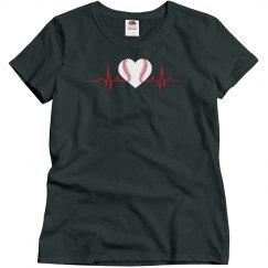 Heartbeat-Baseball Tee