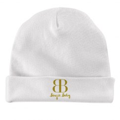 Boujie Baby Gold Text Rabbit Skins Baby Hat