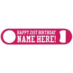 Happy 21st Birthday Custom Gift