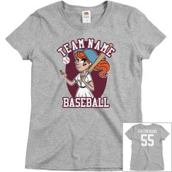 Custom Baseball Girl