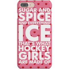 Cute Hockey Girlfriend Cases