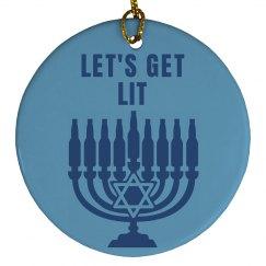 Funny Get Lit Hanukkah Gift