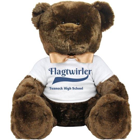 """14"""" Flagtwirler Teddy Bear"""
